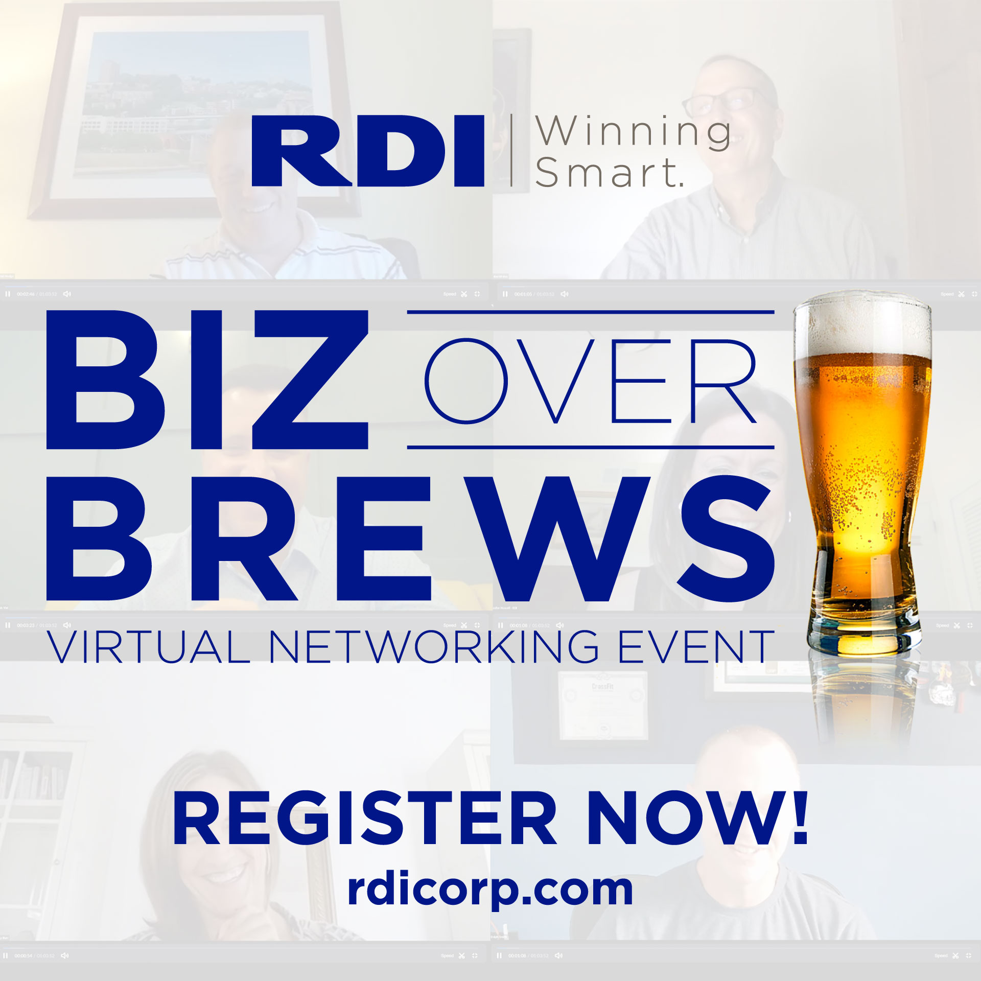 RDI Biz Over Brews Virtual Networking Event - Winning Smart with Remote Teams
