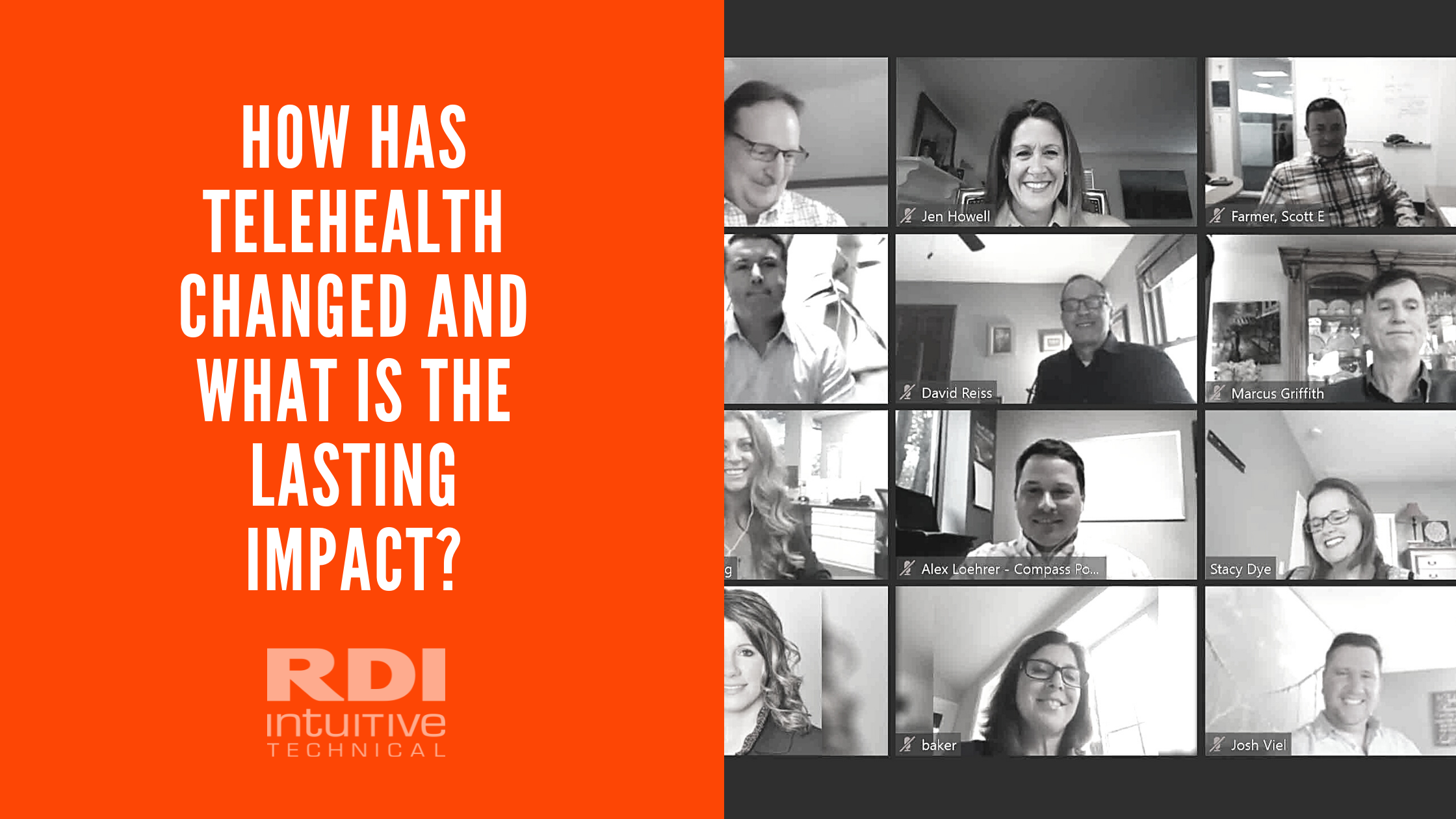 RDI Intuitive Technical blog - How Has Telehealth Changed and What is the Lasting Impact?